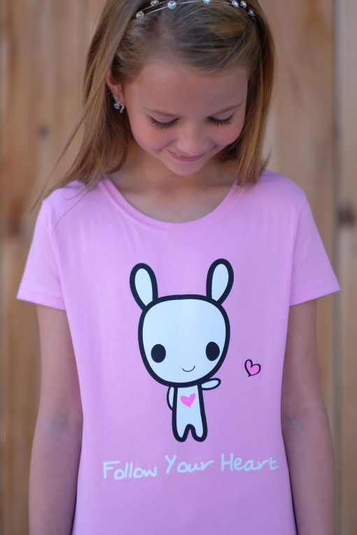 Girl wearing Follow Your Heart Moot Tee