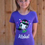 Girl wearing Aloha Lolligag Tee