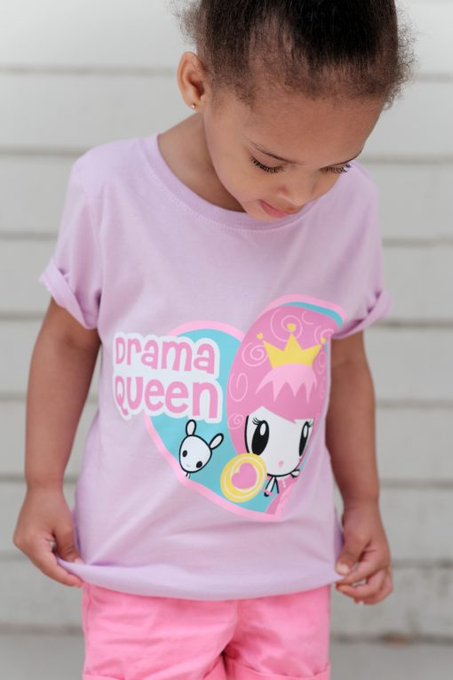 Girl wearing Drama Queen Lolligag Tee