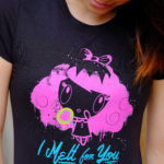 Women looking down at I Melt for You Lolligag t-shirt