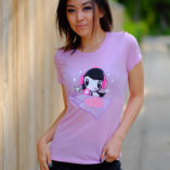 Women wearing the DJ Lolligag shirt