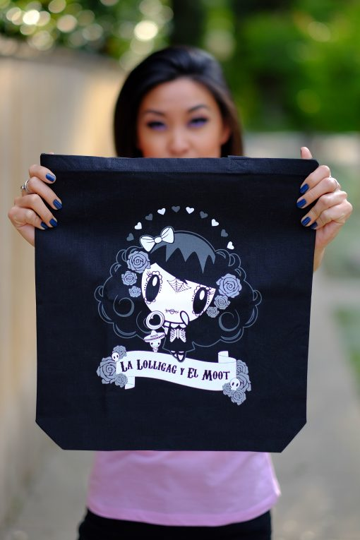 Woman holding Lolligag Tote