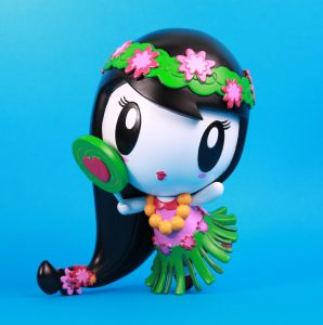 Hand-painted Prototype of Aloha Lolligag Hula Girl Vinyl Doll