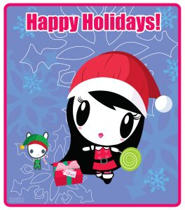 Lolligag and Moot Holiday Card