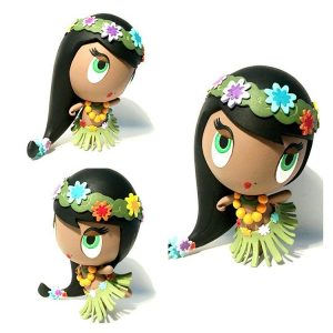 Aloha! Lolligag Hawaiian doll customized toy by the artist known as Obscure