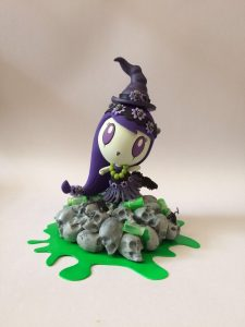 Aloha! Lolligag vinyl toy customized to look like a witch