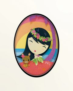 Aloha! Lolligag Framed Paper Art by Jackie Huang
