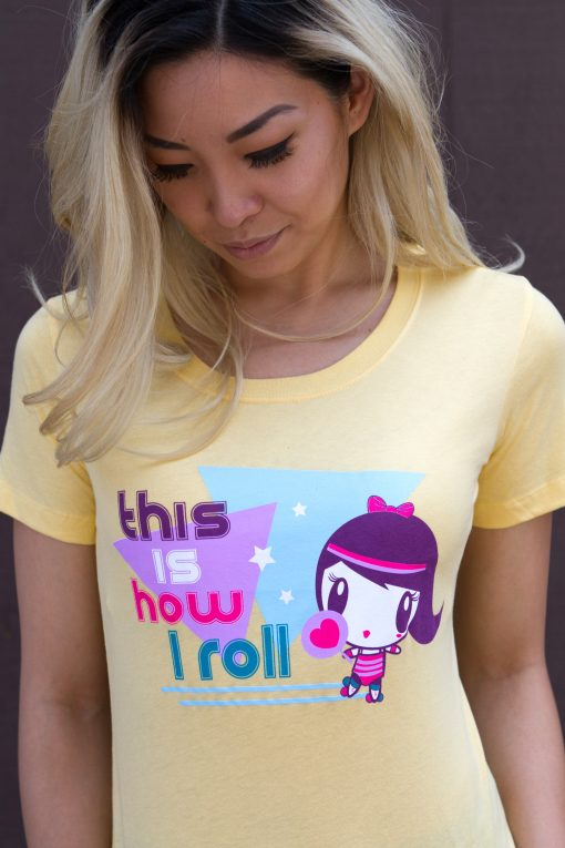 How I Roll Lolligag t-shirt being worn by adult