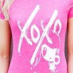 Art Graphic of Lolligag with letters XOXO on a T-shirt