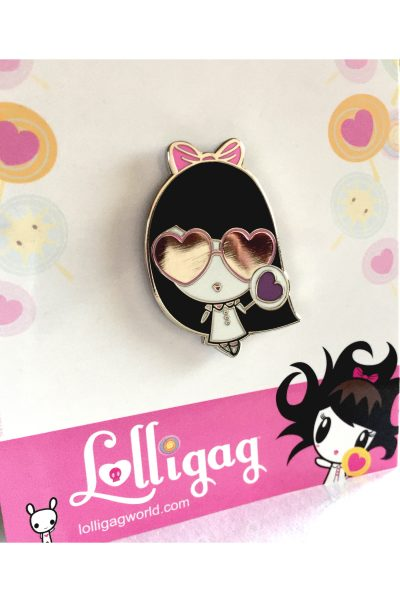 Lolligag Hearts In My Eyes Enamel Pin