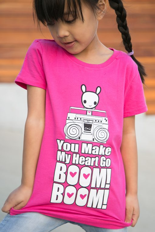"Girl wearing ""Boom Boom Moot"" Tee"