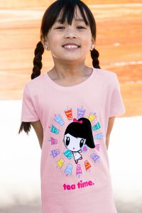 Child Wearing Lolligag Tpumps t-shirt