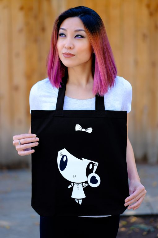 Girl with Noir Lolligag Tote