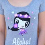 Close-up of Aloha Lolligag T-shirt