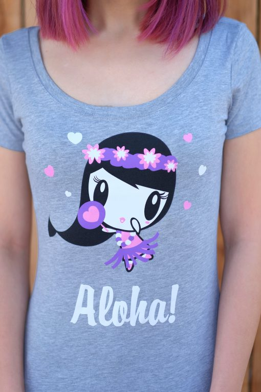 Close-up of Aloha Lolligag T-shirt