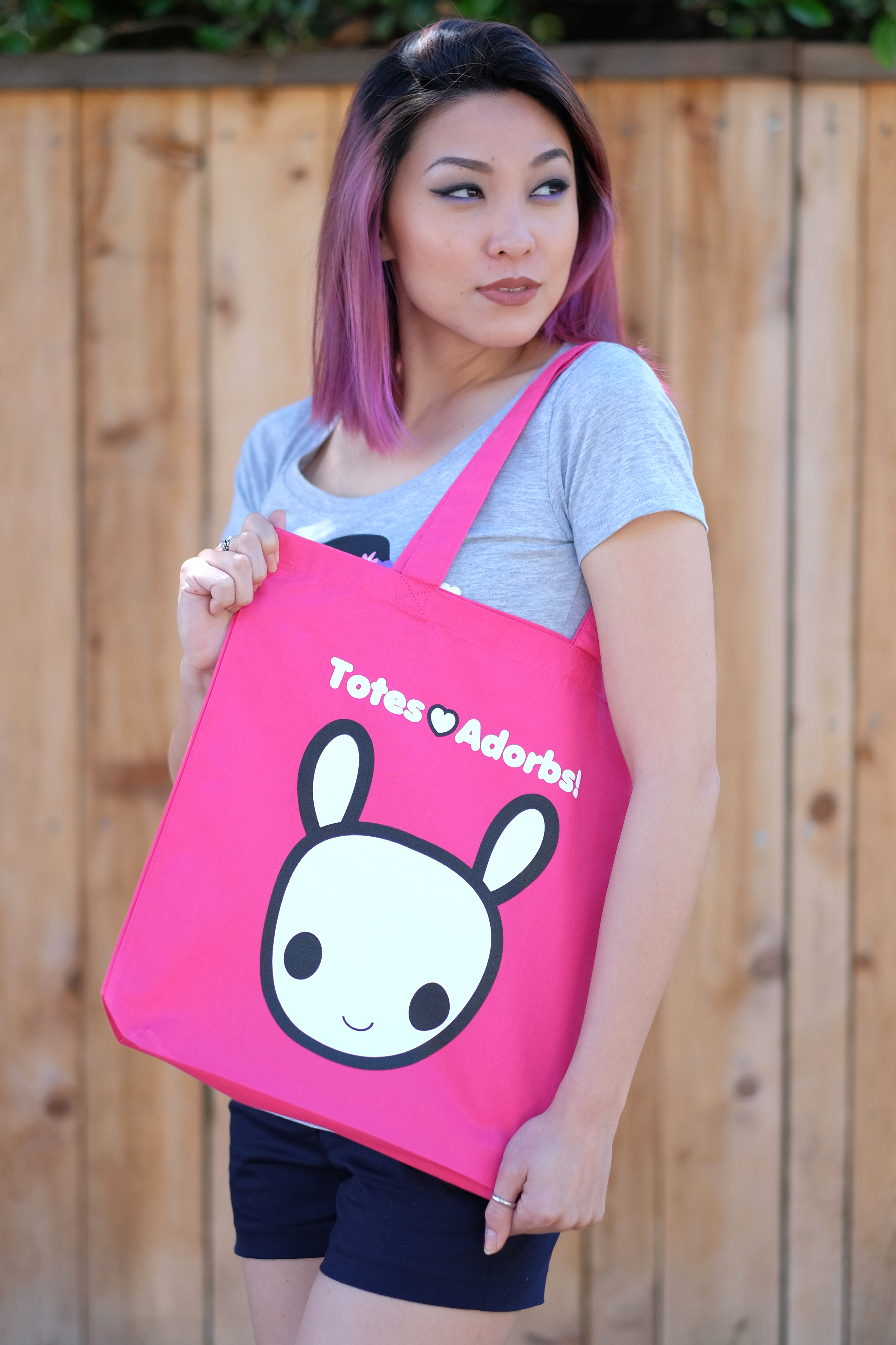 Woman with Totes Adorbs Moot Tote Bag