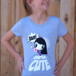 Girl wearing Super Cute Lolligag Tee