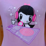 An art print featuring Lolligag and Moot as DJs