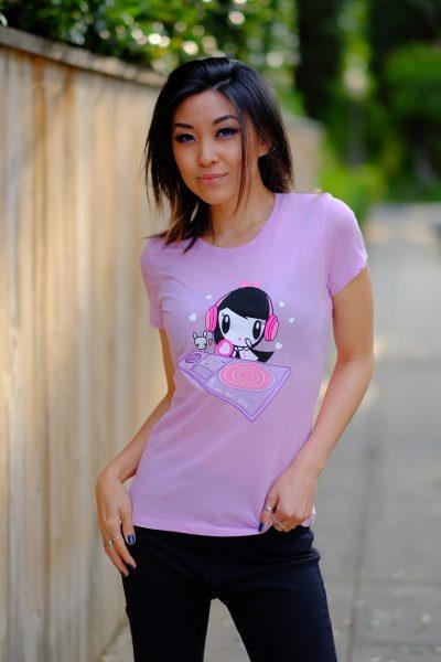 Women wearing the DJ Lolligag shirt