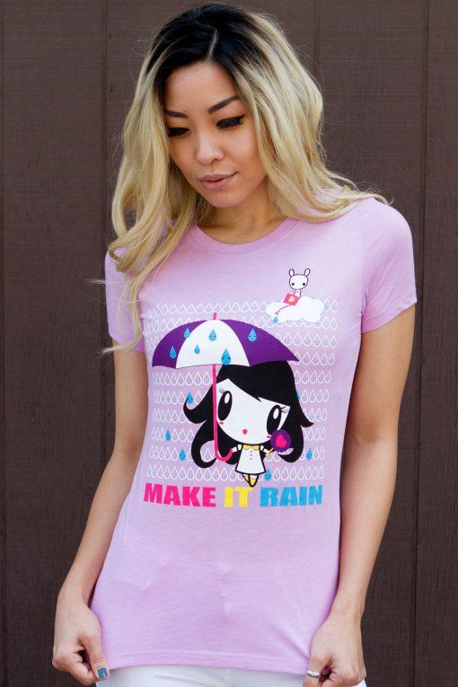 Women wearing the Make It Rain Lolligag T-Shirt