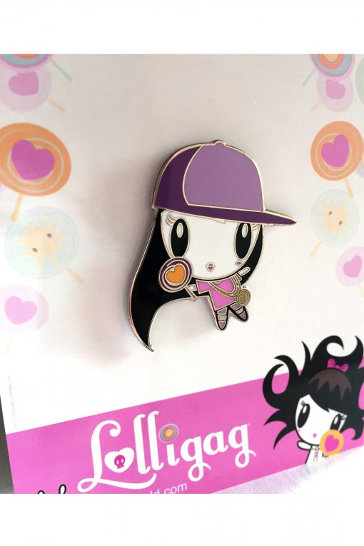 Pin of Lolligag in classic hip-hop fashion clothes